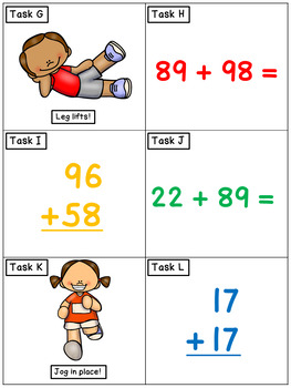 Double Digit Addition Expanded Notation: Math Task Cards - Exercise Scoot!