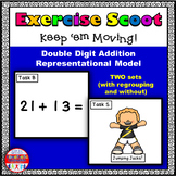 Double Digit Addition Representational Model Math Task Cards Exercise Scoot