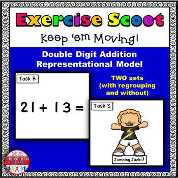 Double Digit Addition Representational Model: Math Task Ca