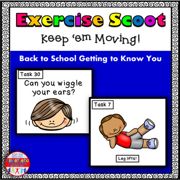 First Day of School Exercise Scoot! Getting to Know You Pa