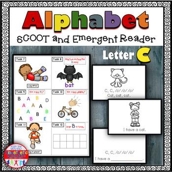 Alphabet Task Cards - Exercise Scoot! Letter C {Emergent R