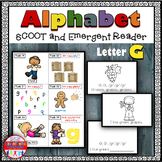 Alphabet Task Cards - Exercise Scoot! Letter G {Emergent Reader Included!}
