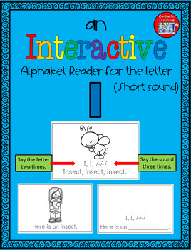 Alphabet Task Cards - Exercise Scoot! Letter I {Emergent Reader Included!}
