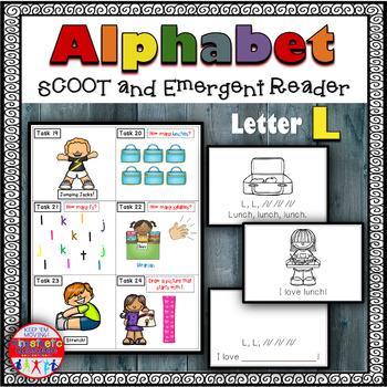 Alphabet Task Cards - Exercise Scoot! Letter L {Emergent R