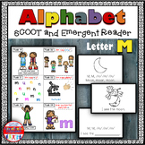 Alphabet Task Cards - Exercise Scoot! Letter M {Emergent Reader Included!}