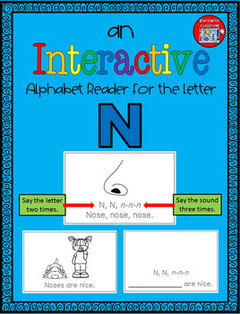 Alphabet Task Cards - Exercise Scoot! Letter N {Emergent Reader Included!}
