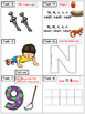 Alphabet Task Cards - Exercise Scoot! Letter N {Emergent R