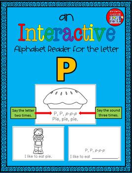 Alphabet Task Cards - Exercise Scoot! Letter P {Emergent Reader Included!}