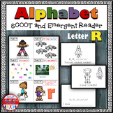 Alphabet Task Cards - Exercise Scoot! Letter R {Emergent Reader Included!}