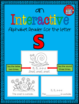 Alphabet Task Cards - Exercise Scoot! Letter S {Emergent Reader Included!}