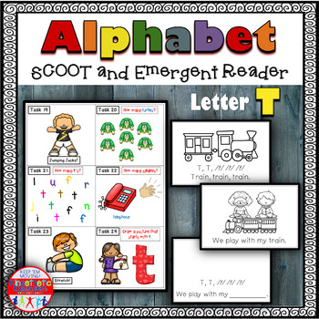 Alphabet Task Cards - Exercise Scoot! Letter T {Emergent R