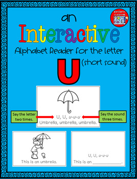 Alphabet Task Cards - Exercise Scoot! Letter U {Emergent Reader Included!}