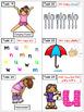 Alphabet Task Cards - Exercise Scoot! Letter U {Emergent Reader Included!}