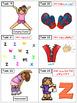 Alphabet Task Cards - Exercise Scoot! Letter Z {Emergent Reader Included!}