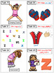 Alphabet Task Cards - Exercise Scoot! Letter Z {Emergent R
