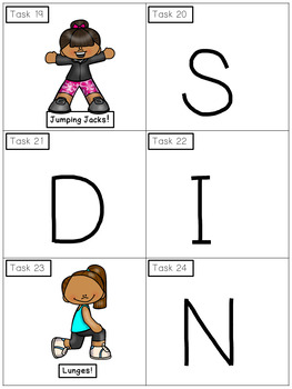 Alphabet Activities - Missing Letter Task Cards - Exercise Scoot!