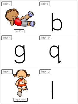 Alphabet Activities Missing Letter Task Cards Exercise Scoot!