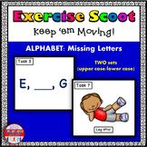 Alphabet Activity Missing Letter Task Cards Exercise Scoot