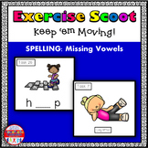 Missing Vowels Phonics Task Cards Exercise Scoot