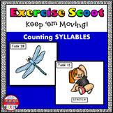 Syllable Count: Exercise Scoot! {Task Cards}