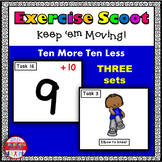 Ten More and Ten Less Math Task Cards Exercise Scoot