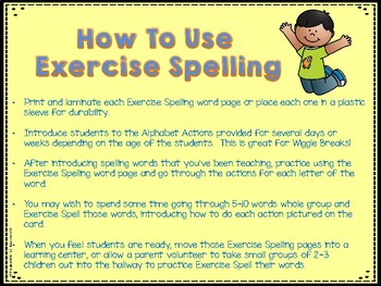 Exercise Spelling