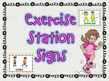 Exercise Stations Signs