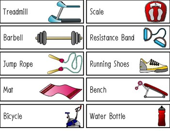 Exercise Study Questions Of The Week And Word Wall By Preschool Productions