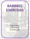 Exercise Task Cards: Barbell Exercises
