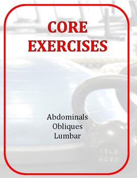 Exercise Task Cards: Core Exercises
