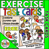 Exercise Task Cards (for Warm Ups or Centers)