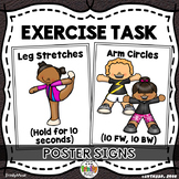Exercise Poster Signs (for Warm Ups or Centers)