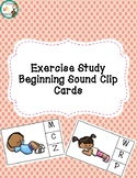 Exercise Themed Beginning Sound Clip Cards