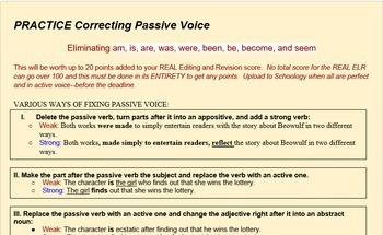Exercise Turning Passive Voice to Active (50 Sentences)