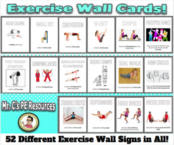 Exercise Wall Cards