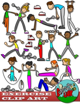 Exercise / Workout Clip art - Set 1