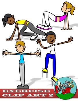 Exercise / Workout Clip art - Set 2