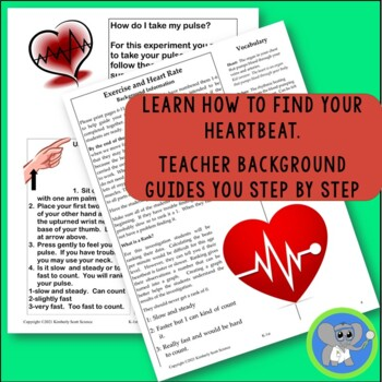 Exercise and Heart Rate:  Kindergarten/1st Grade Experiment