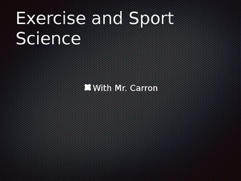 Exercise and Sport Science Lessons