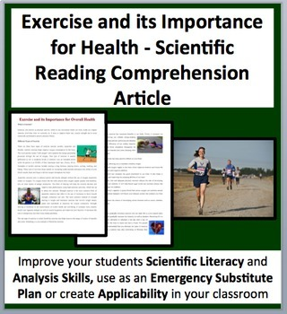 Exercise and its Importance for Health-A Science Reading Comprehension Resource