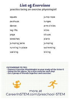 exercise for kids lesson plan  get up and get moving