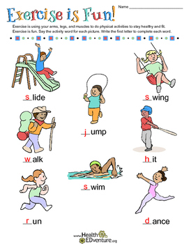 Word Work: Exercise is Fun!