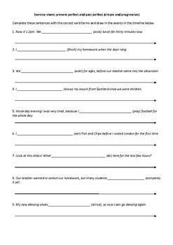 Exercise sheet: Past perfect or present perfect