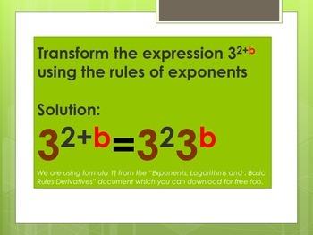Exercises: Derivatives, Exp...