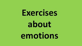 Exercises about feelings