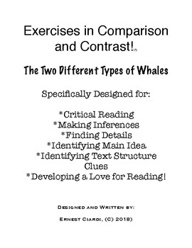 Exercises in Comparison and Contrast, #1: The Two Different Types of Whales