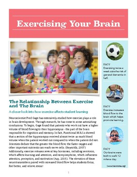Exercising Your Brain Newsletter/Handout