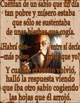 A~SPANISH~Z~Exerpt from LA VIDA ES SUENO   Cuentan de un sabio  A Life Message