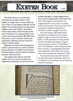 Exeter Book Background Information
