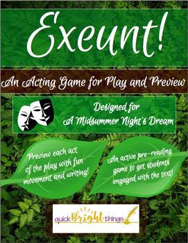 Exeunt!: A Pre-Reading ACTivity for A Midsummer Night's Dream